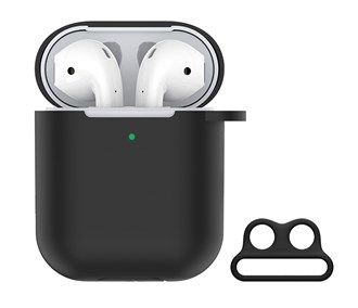 Devia - Silicone for Apple & Devia AirPods (All Gen) - Black