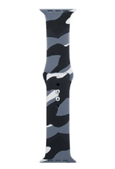 Devia - Silicone Strap for Apple Watch (38mm/40mm) - Camouflage Grey