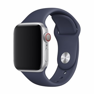 Devia - Silicone Strap for Apple Watch (42mm/44mm) - Midnight Blue