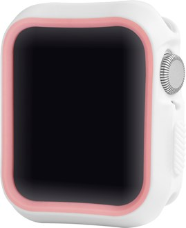 Devia - Silicone Case for Apple Watch (42mm/44mm) - White/Pink