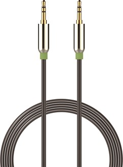 Devia - 1m Mesh Armour Auxiliary Cable - Black