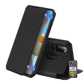 Dux Ducis - Skin X Wallet for Galaxy A21s - Black