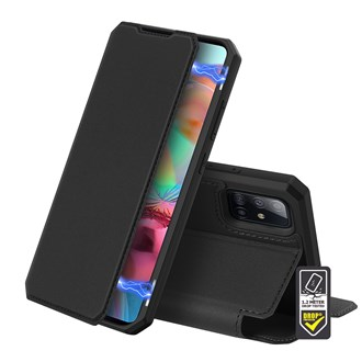 Dux Ducis - Skin X Wallet for Galaxy A51 - Black