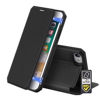 Dux Ducis - Skin X Wallet for iPhone SE/8/7 - Black