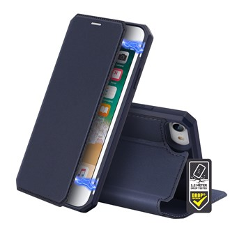 Dux Ducis - Skin X Wallet for iPhone SE/8/7 - Blue