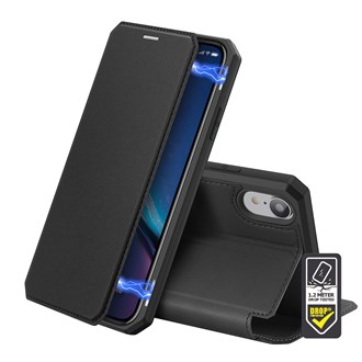 Dux Ducis - Skin X Wallet for iPhone XR - Black