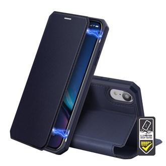 Dux Ducis - Skin X Wallet for iPhone XR - Blue