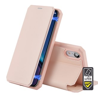 Dux Ducis - Skin X Wallet for iPhone XR - Pink