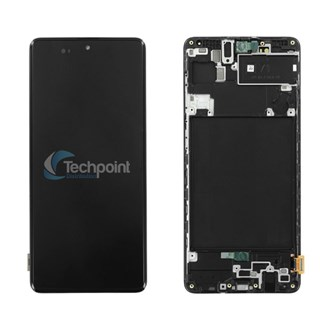 Samsung - LCD & Display Touch Screen Assembly for Galaxy A71 (SM-A715) - Black