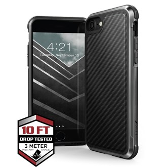 Raptic Lux for iPhone SE/8/7/6S/6 - Black Carbon Fibre