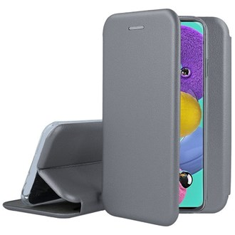 Clamshell Wallet for Galaxy A51 - Space Grey