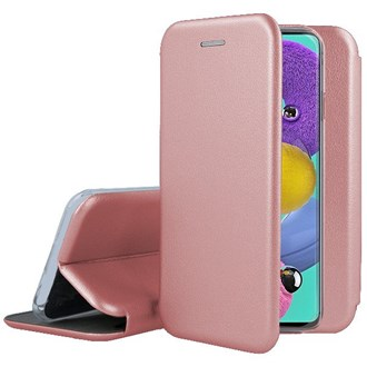 Clamshell Wallet for Galaxy A51 - Rose Gold