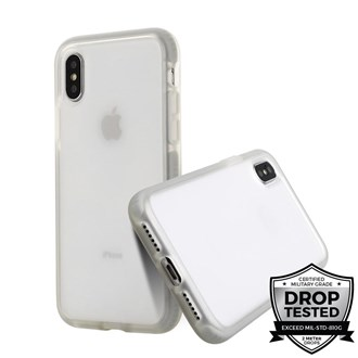 Prodigee - Safetee Smooth for iPhone XS/X - Silver
